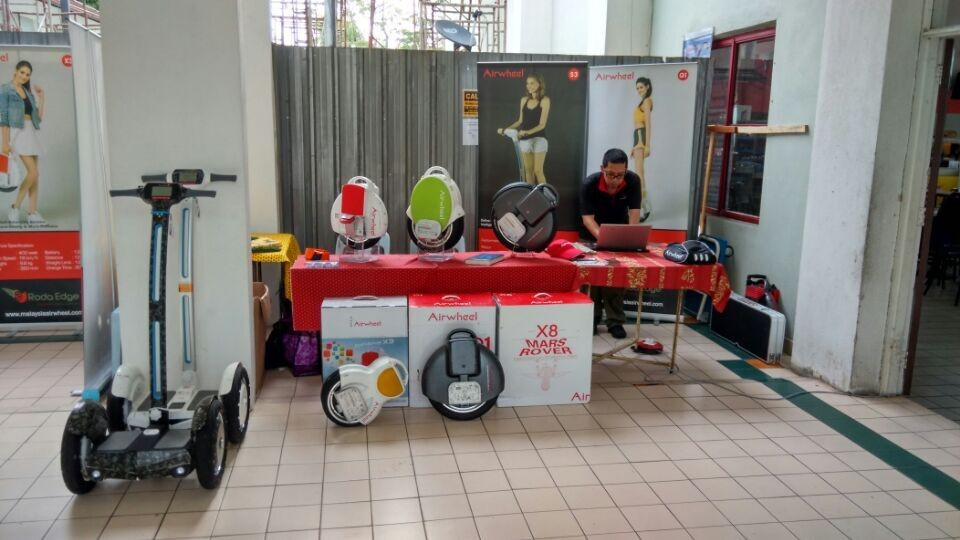 Airwheel electric self-balancing scooters appeared in Universiti Kuala Lumpur Open Day.